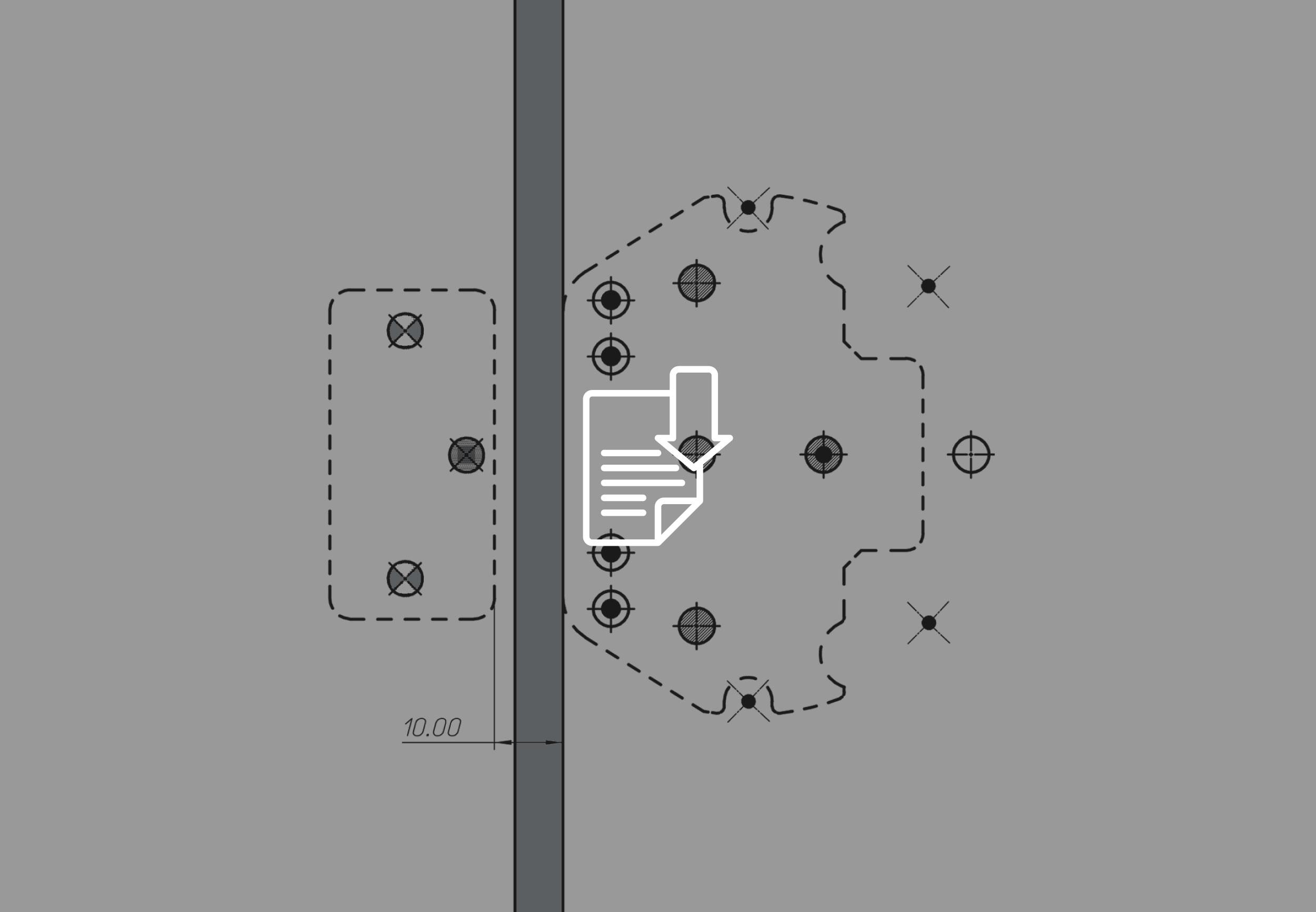 drilling template UFO+